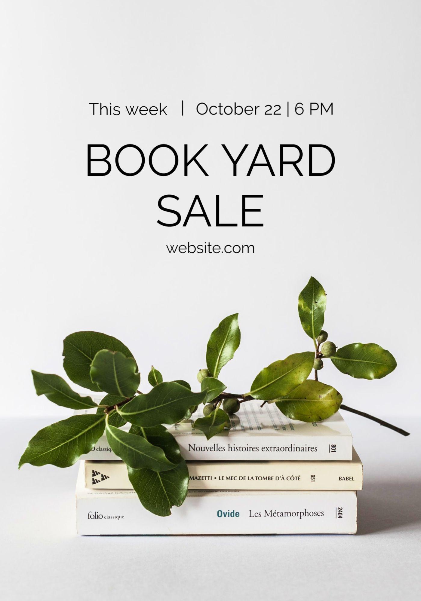 Book Yard Sale Flyer Template