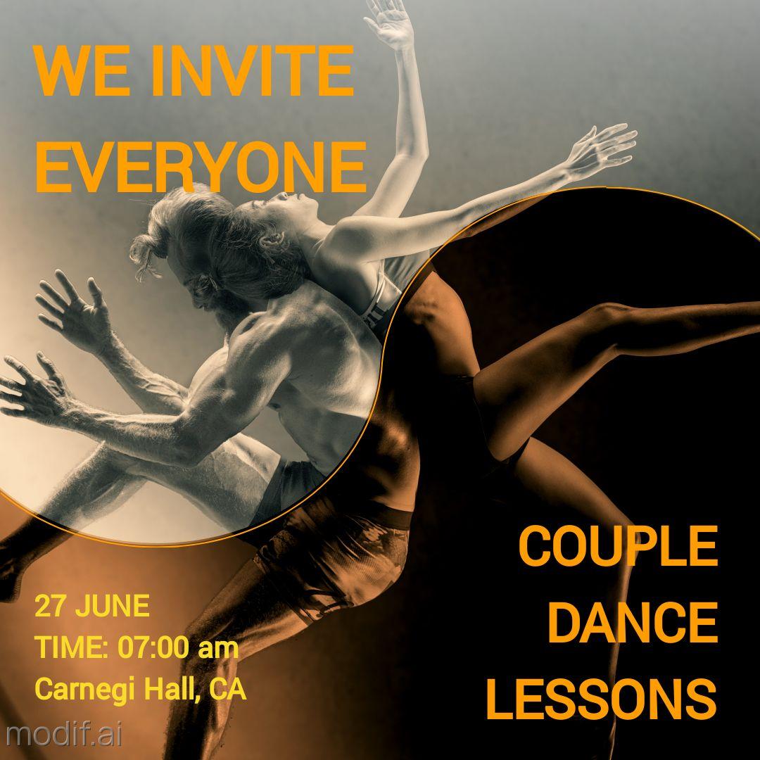 Couple Dance Lesson Instagram Post