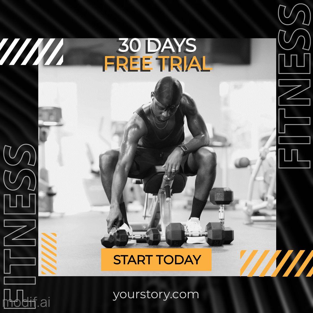 Fitness Challenge Instagram Template