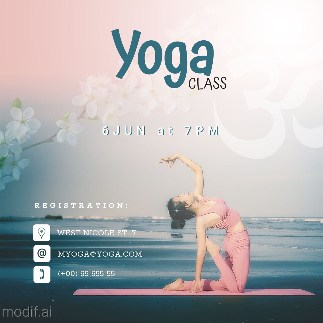 Yoga Class Fitness ad Instagram Post Template