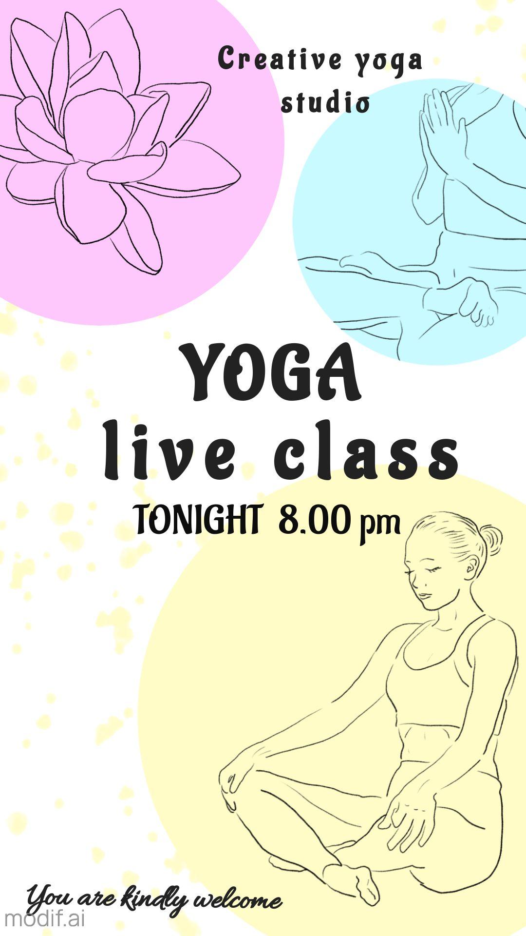 Sketch Yoga Instagram Story Template