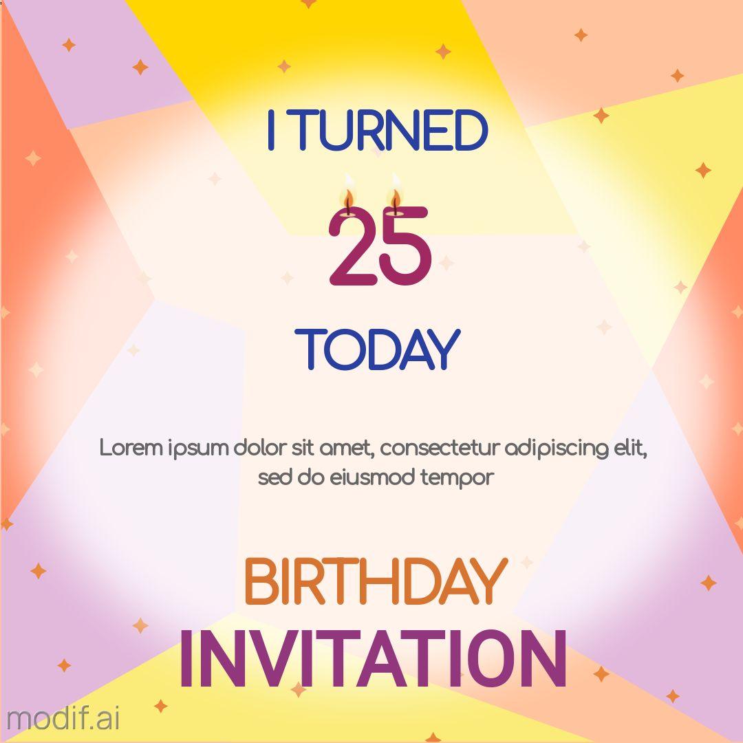 Birthday Invitation Post on Instagram