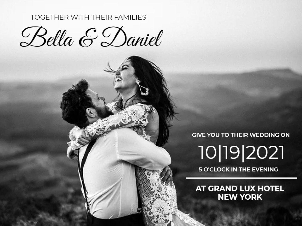 Wedding Invitation Facebook Template