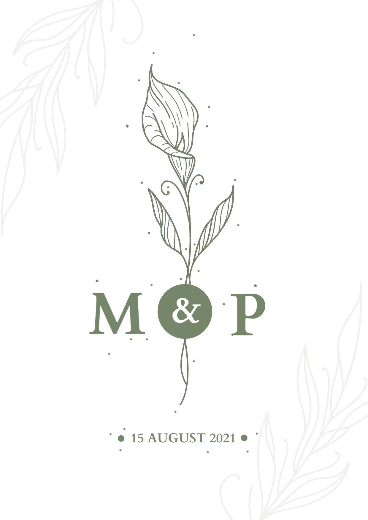 Minimalistic Wedding Invitation Template`