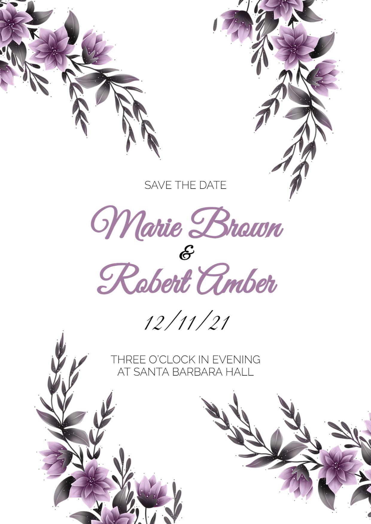 Minimalistic Wedding Invitation Template
