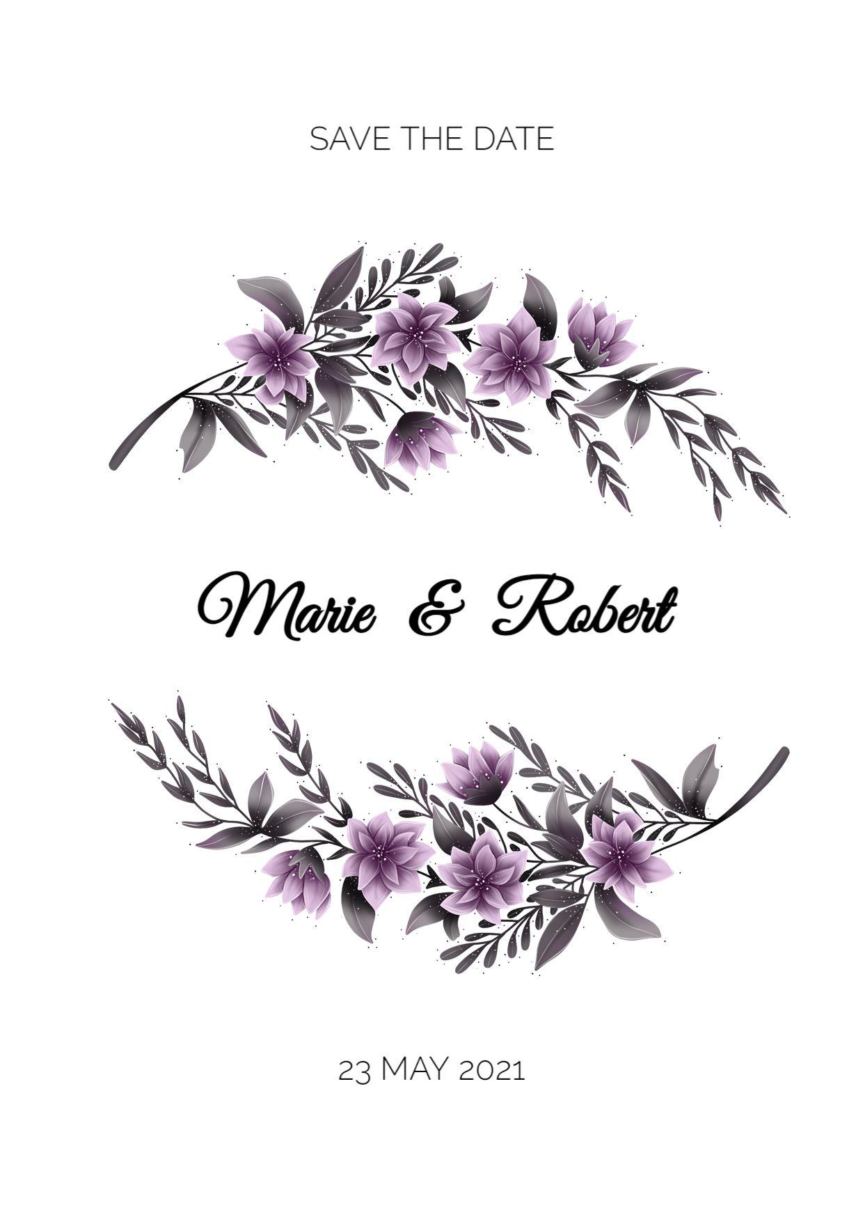 Illustrated Wedding Invitation Template