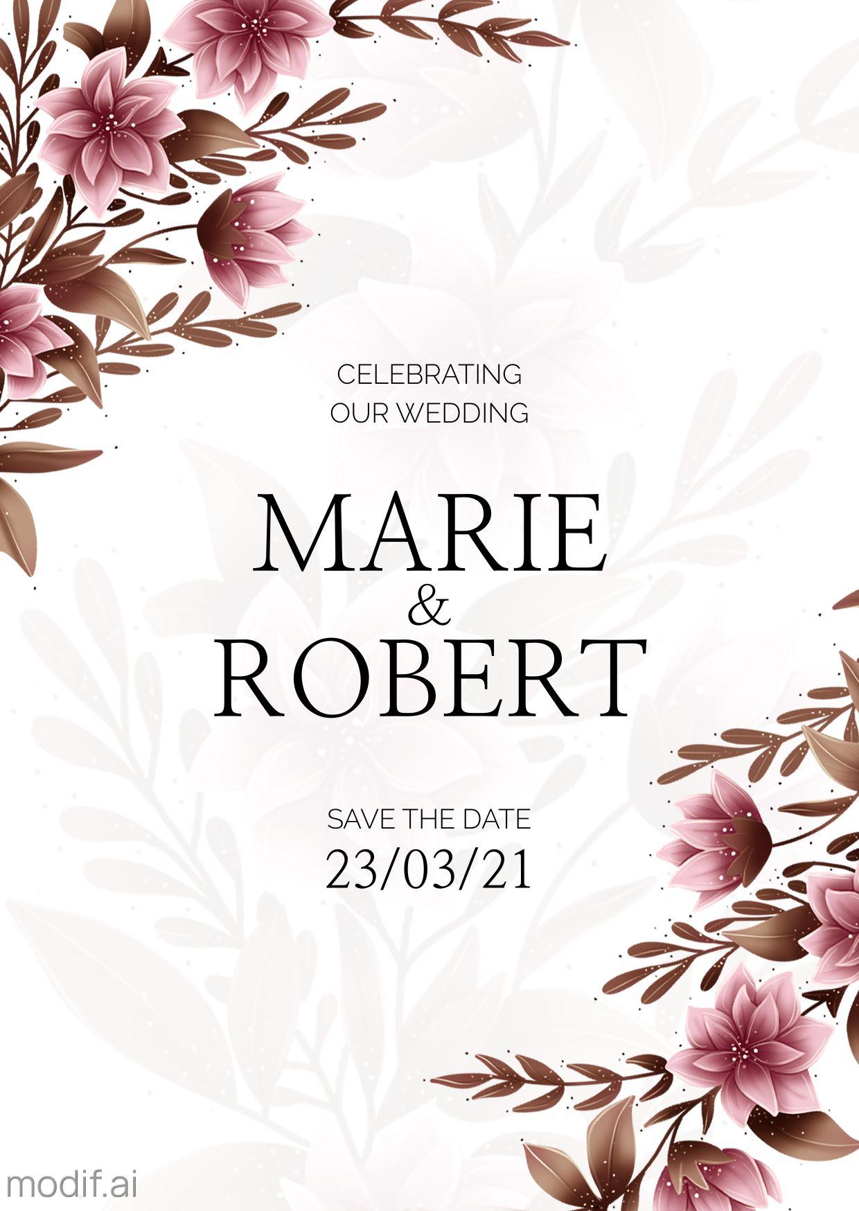 Minimal Wedding Invitation Template