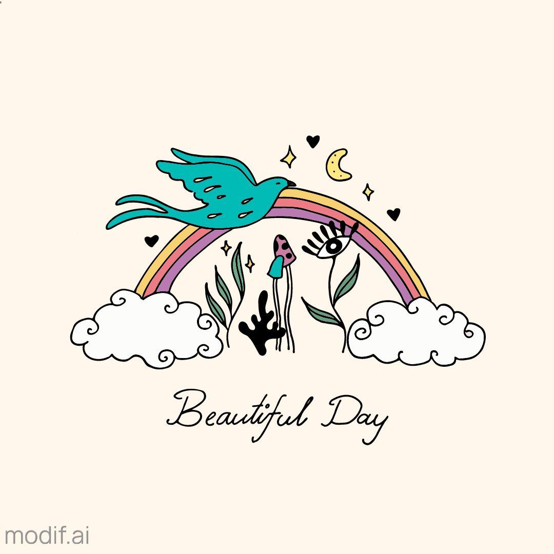 Beautiful Day Boho Mug Design