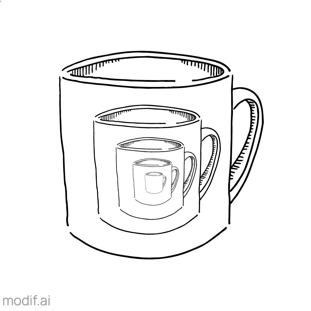 Mirror Mug Design Template