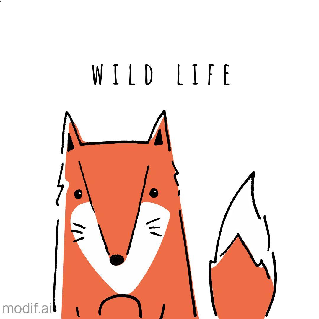 Fox Drawing Mug Design