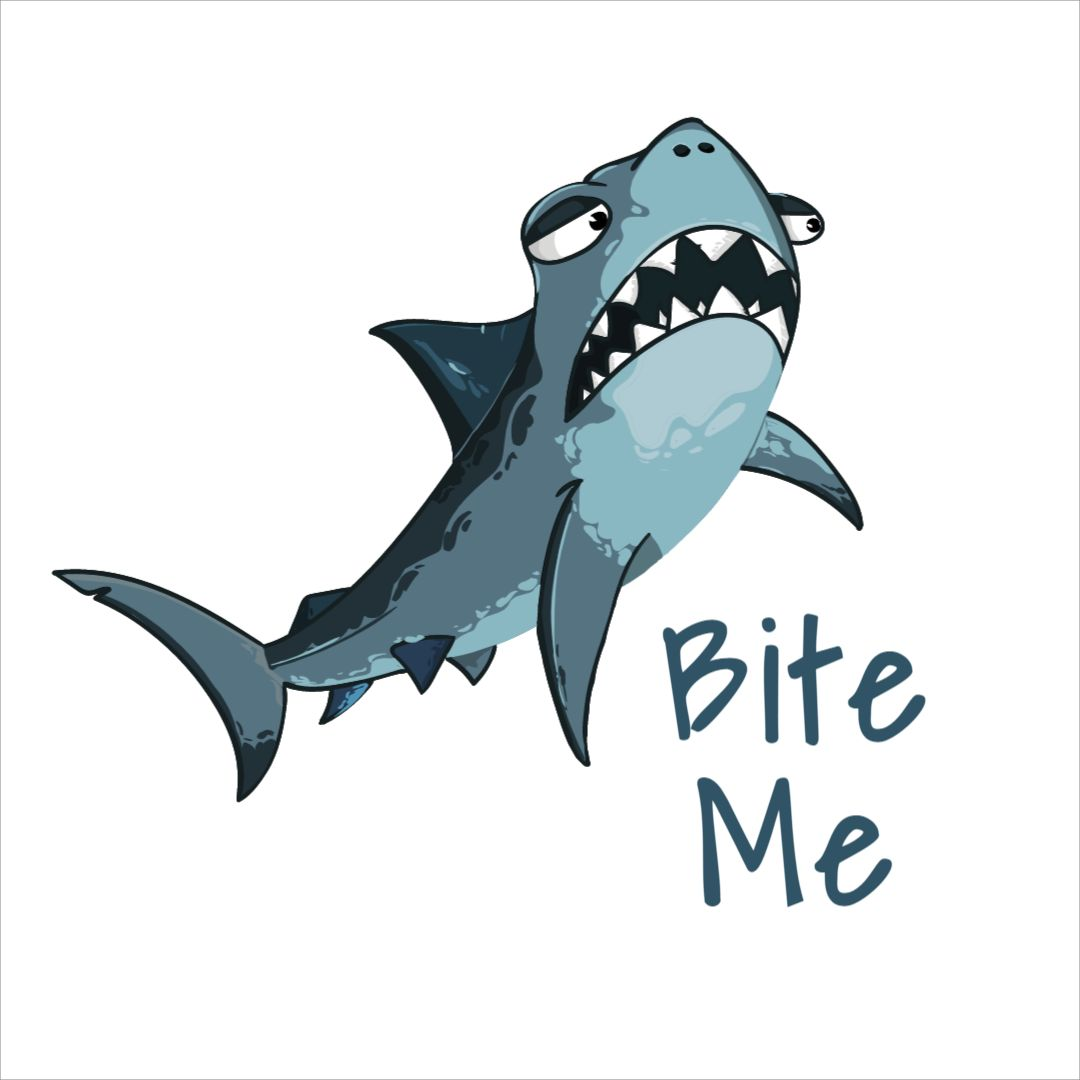 Funny Shark Mug Design