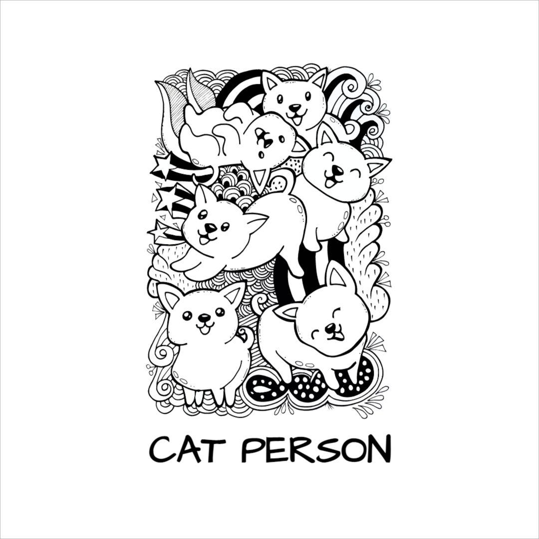 Cat Person Mug Design