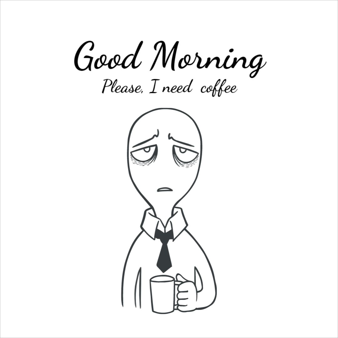 Mug Morning Coffee Design Template