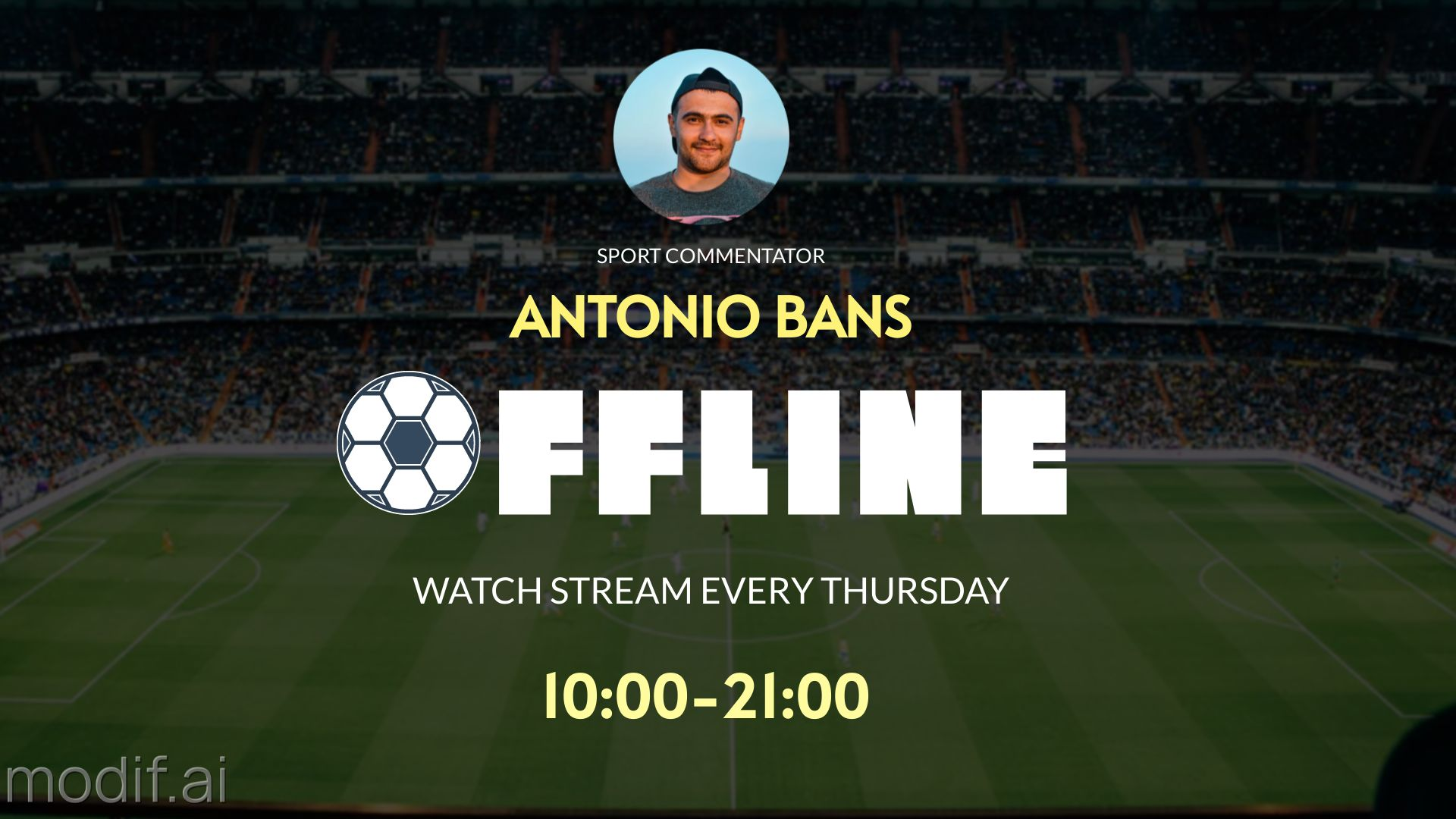 Football Twitch Banner Template