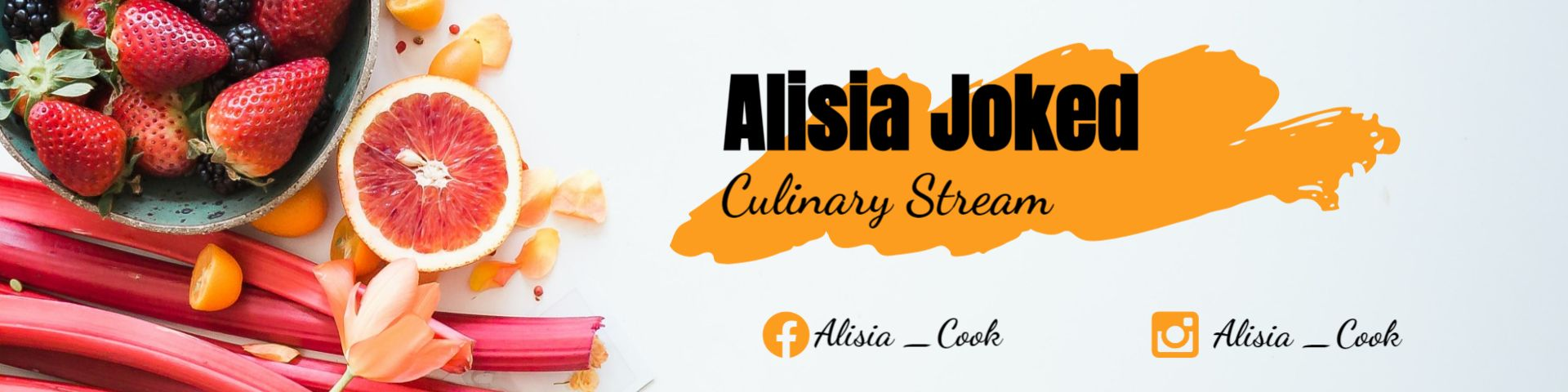Culinary Stream Twitch Channel Heading Banner