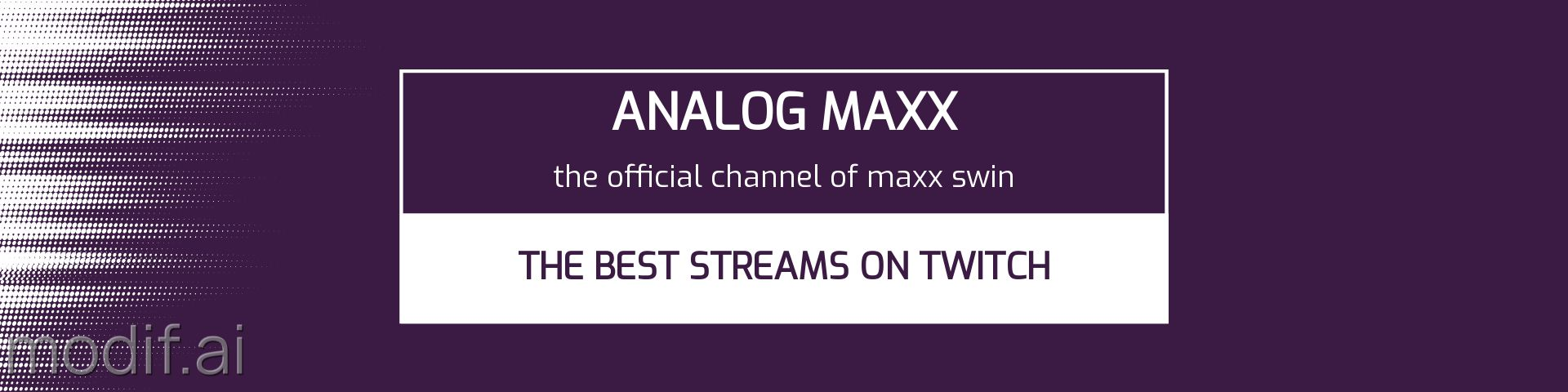 Twitch Channel Heading Banner Template