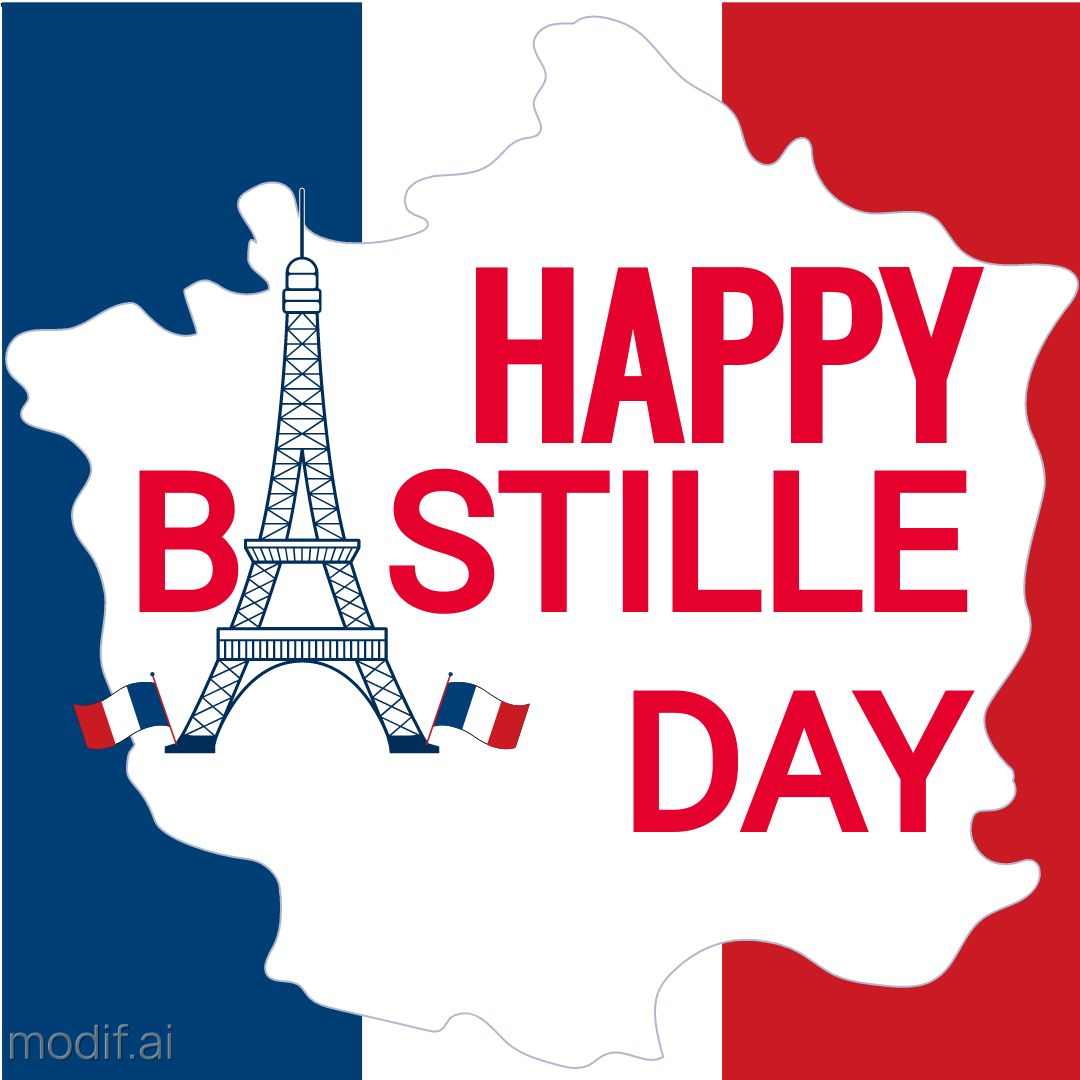 Bastille Day Post Template