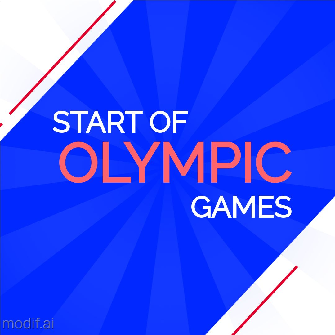 Instagram Post Template for the Start of the Olympic Games