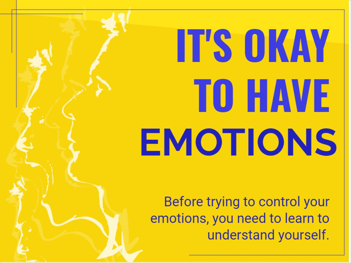 Yellow Mental Health Facebook Post Template