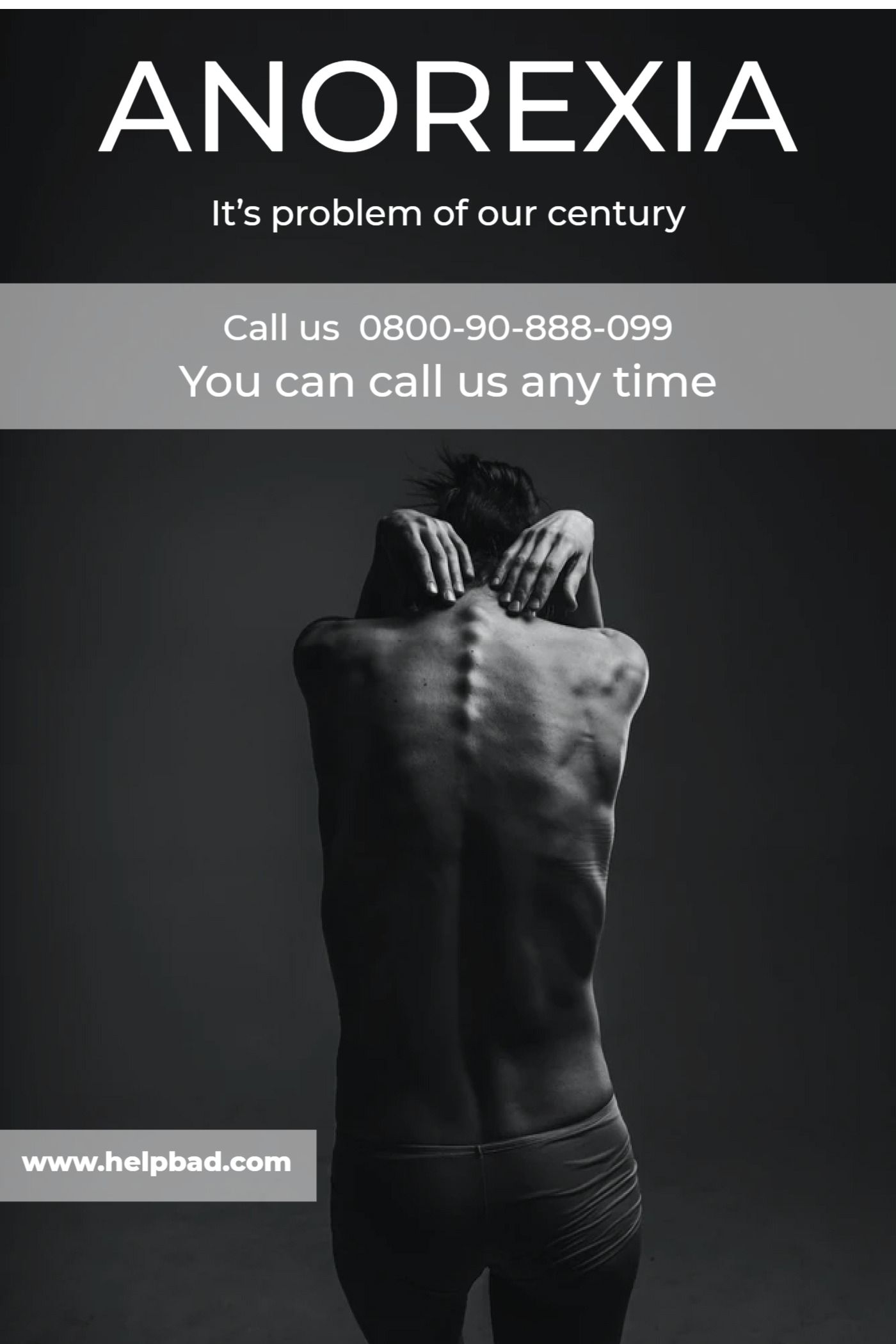 Poster Mental Health Problem Anorexia Template
