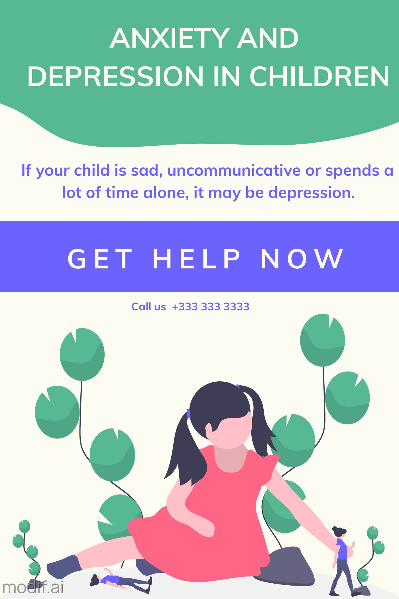 Anxiety And Depression In Children Poster