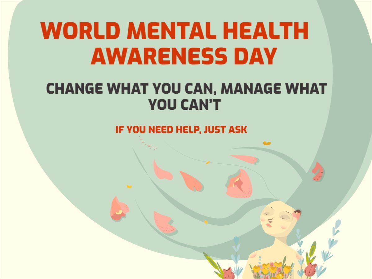 Mental Health Awareness Day Facebook Post