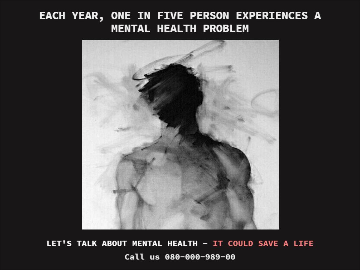 Dark Thoughts Mental Health Facebook Post