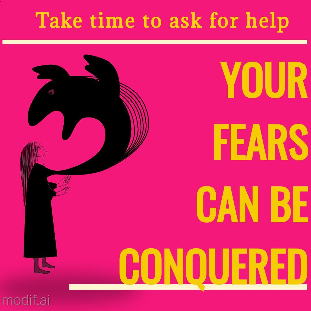 Fighting Fear Instagram Post Template