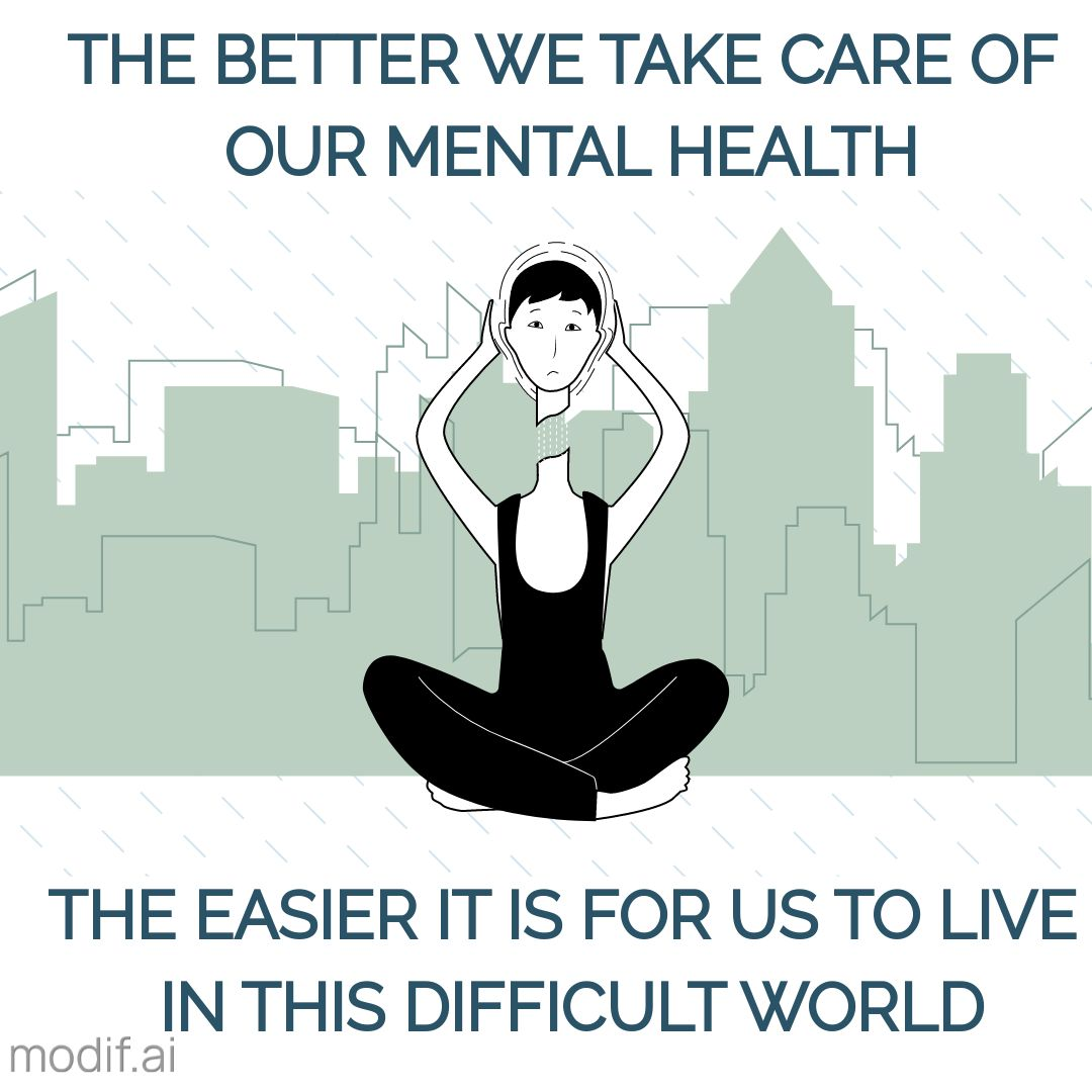 Instagram Post Template Mental Health in the City