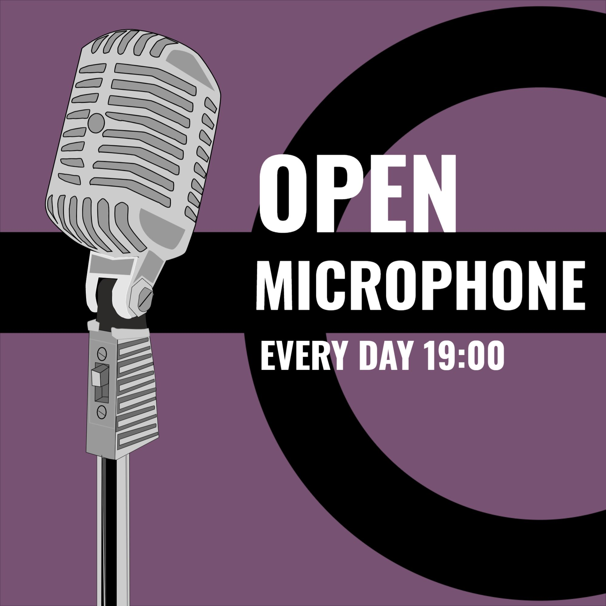 Open Microphone Podcast Cover Template