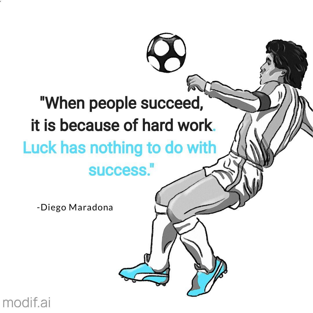 Diego Maradona quotes Sport Instagram Template