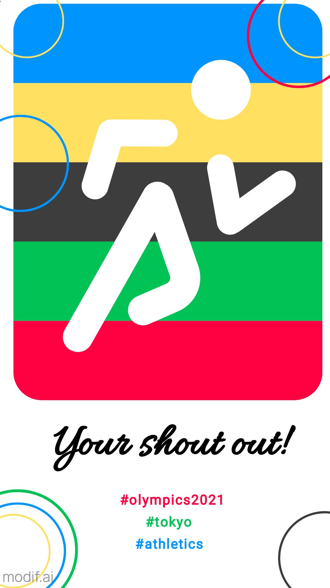 Athletics Pictogram Olympic Instagram Story Post Template