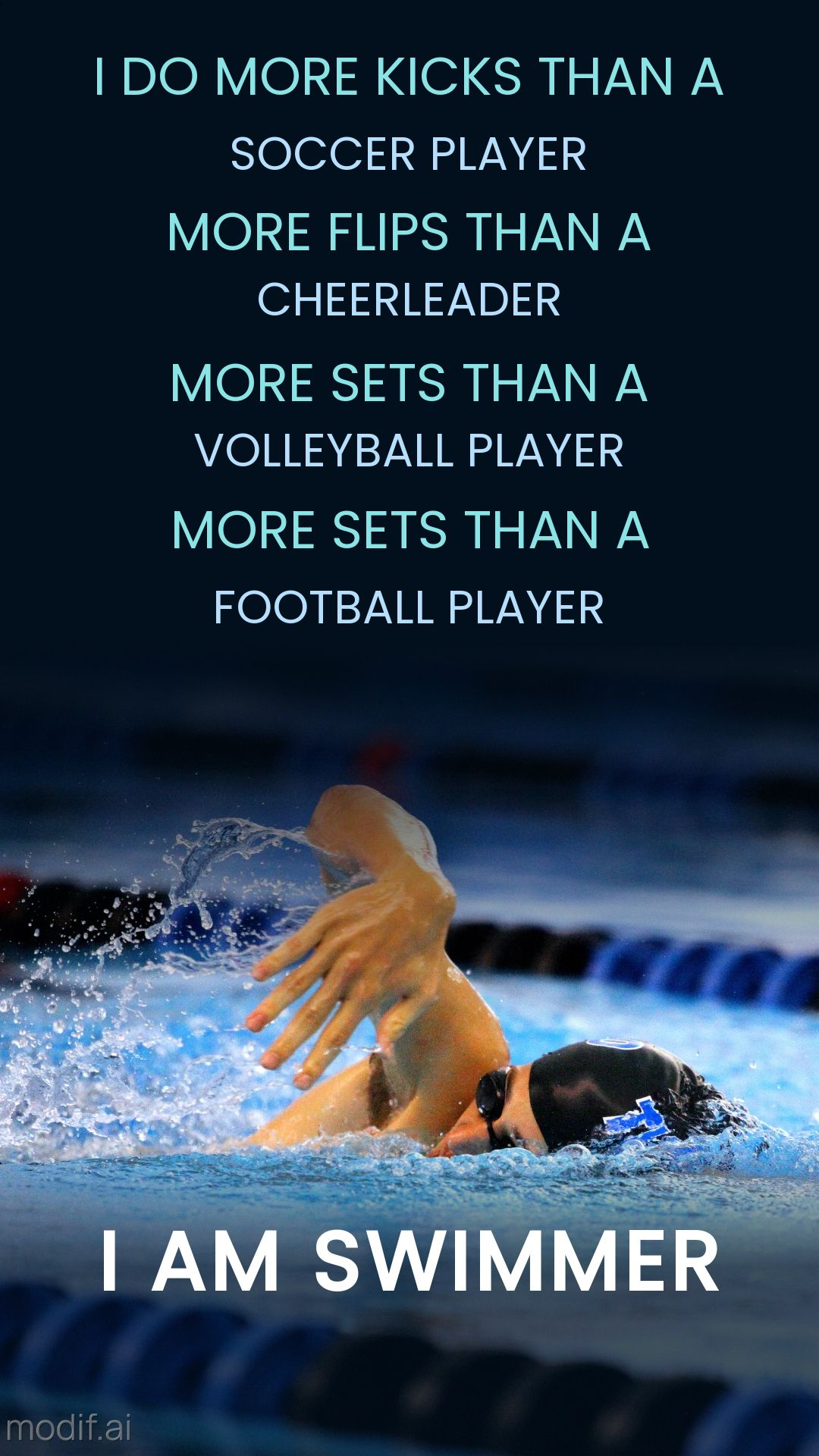 Swimming Motivation Instagram Stories Template
