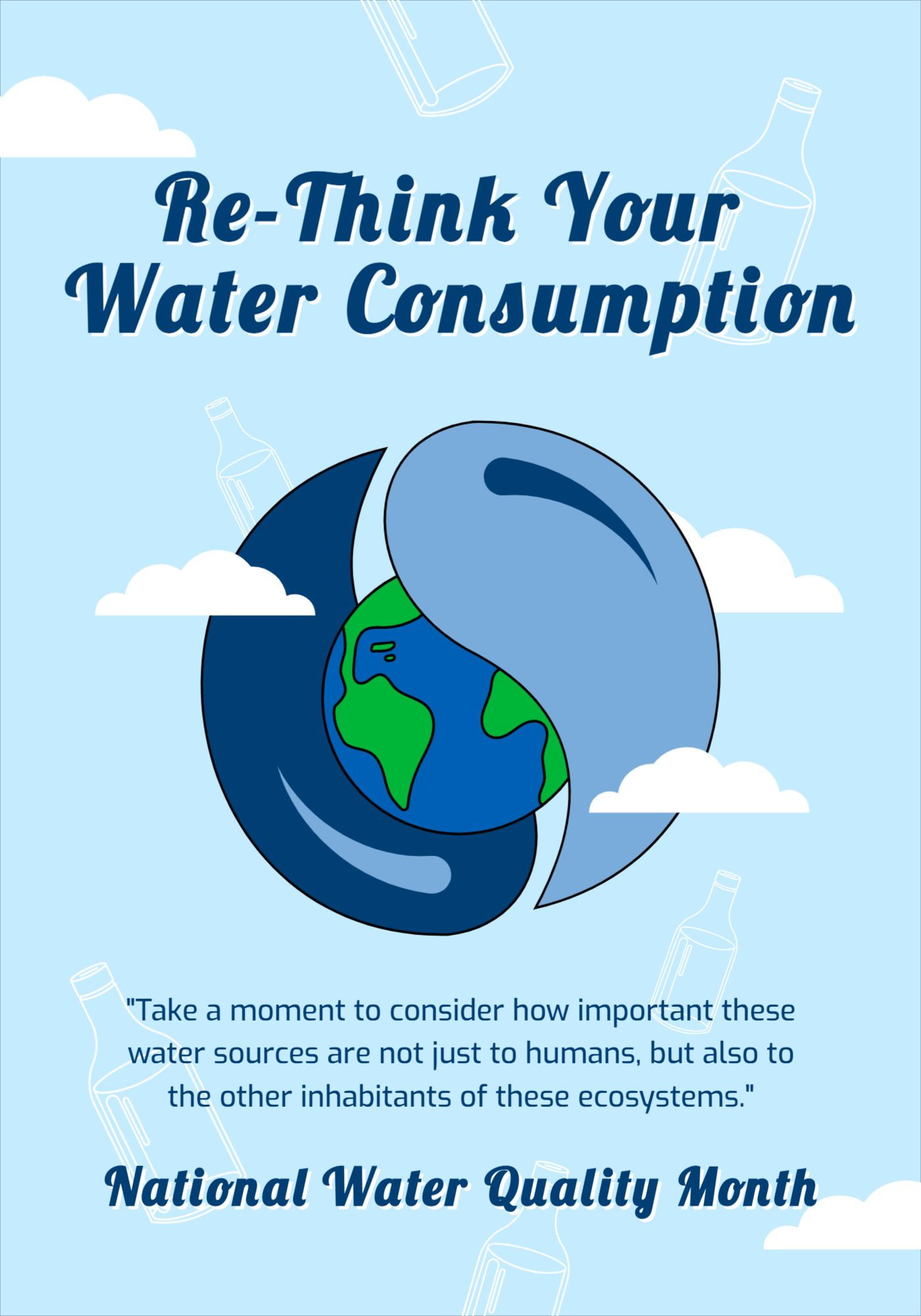 National Water Quality Month Poster Template