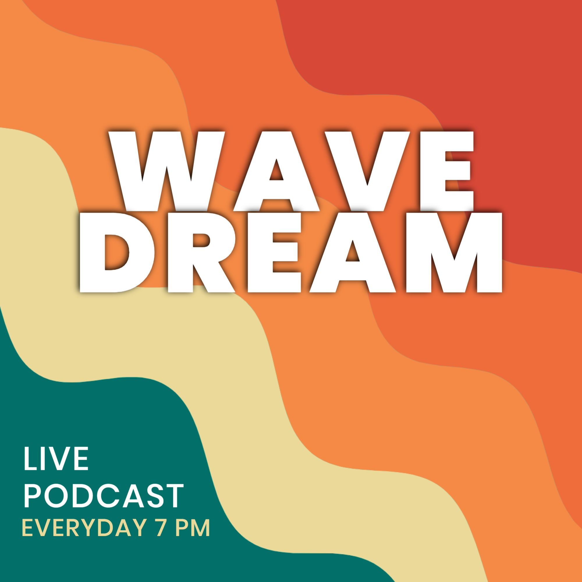 Wave Dream Podcast Cover Template