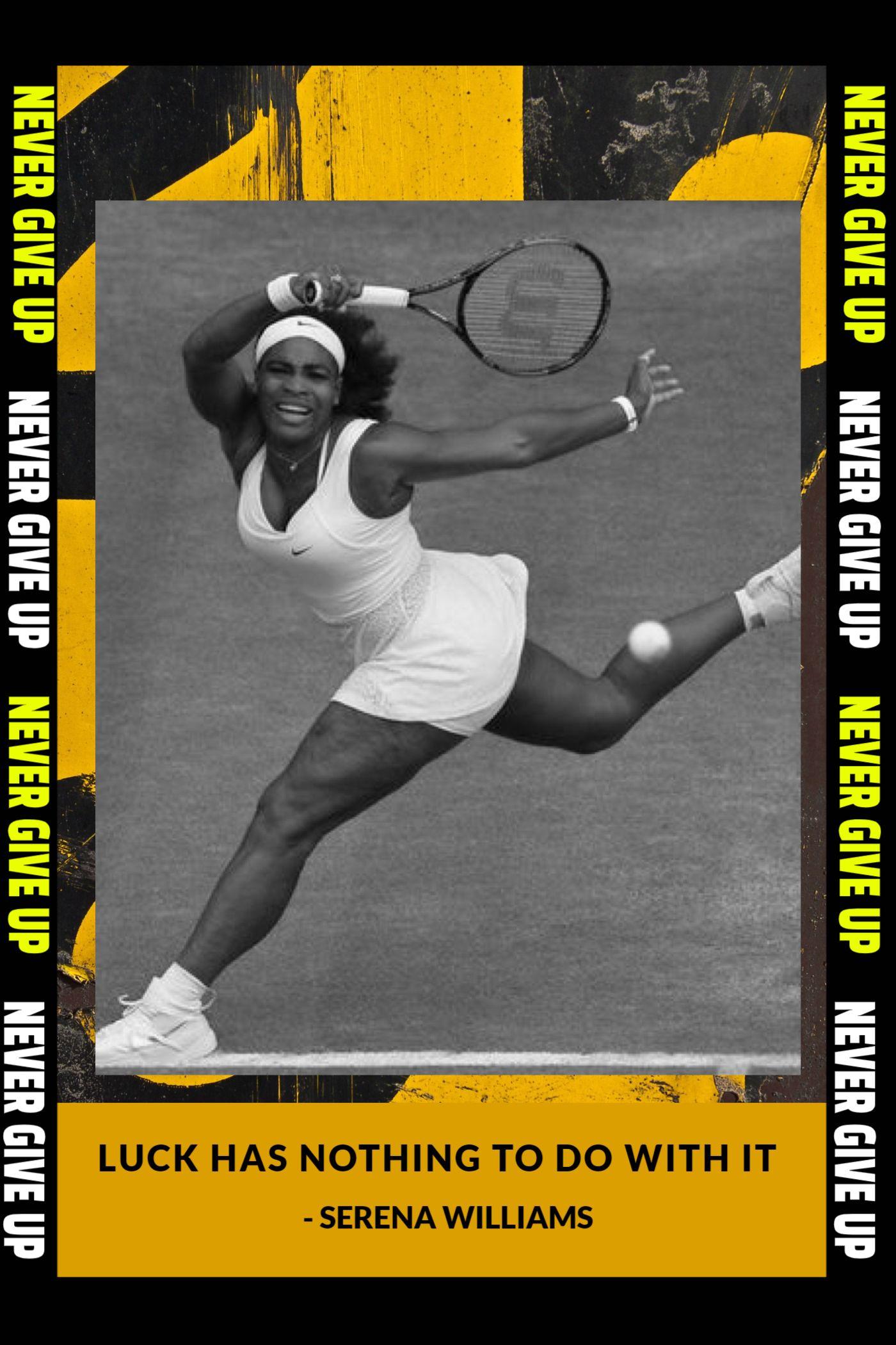 Serena Williams Quote Poster Template