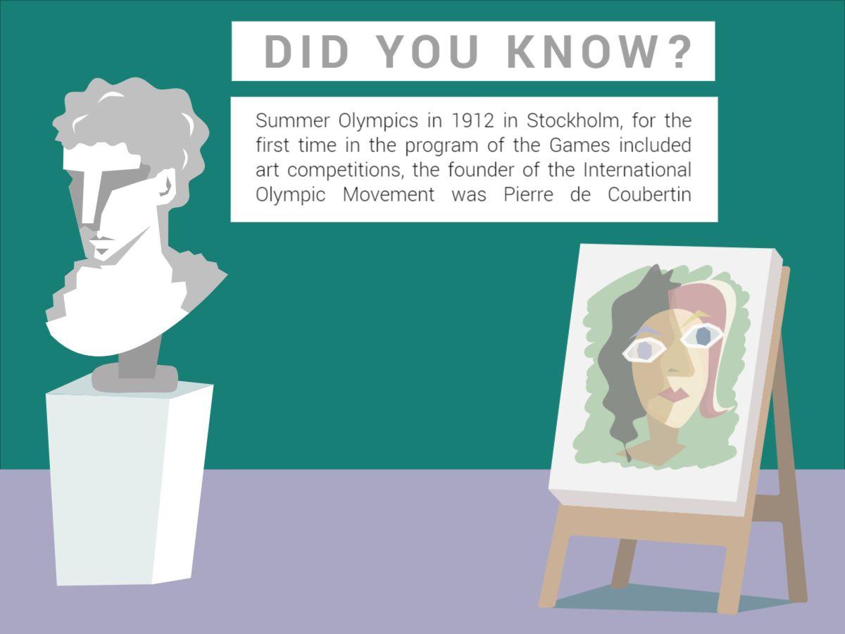 Facebook Post Olympic Art Design Template
