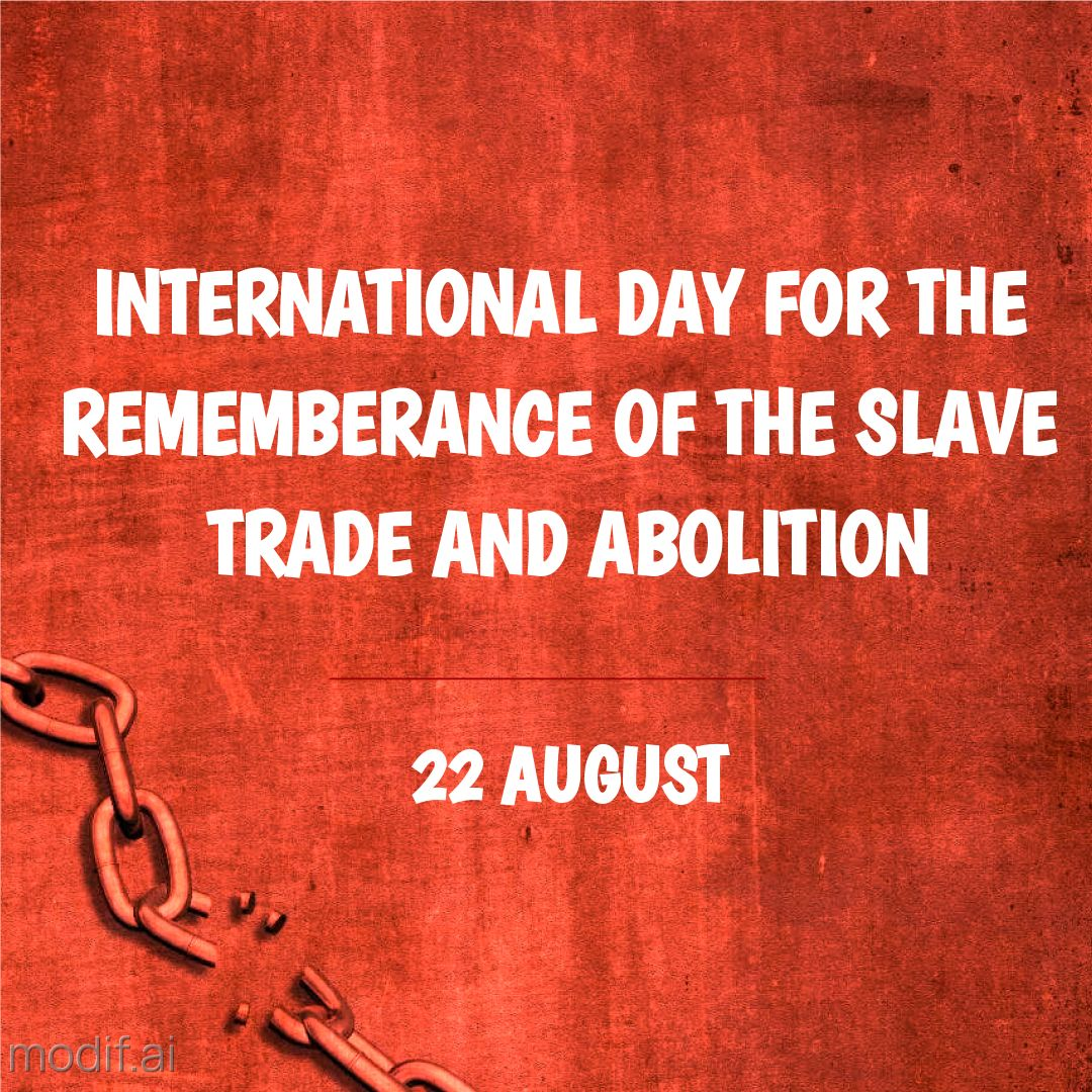 Instagram post template International Day for the Remembrance of the Slave Trade
