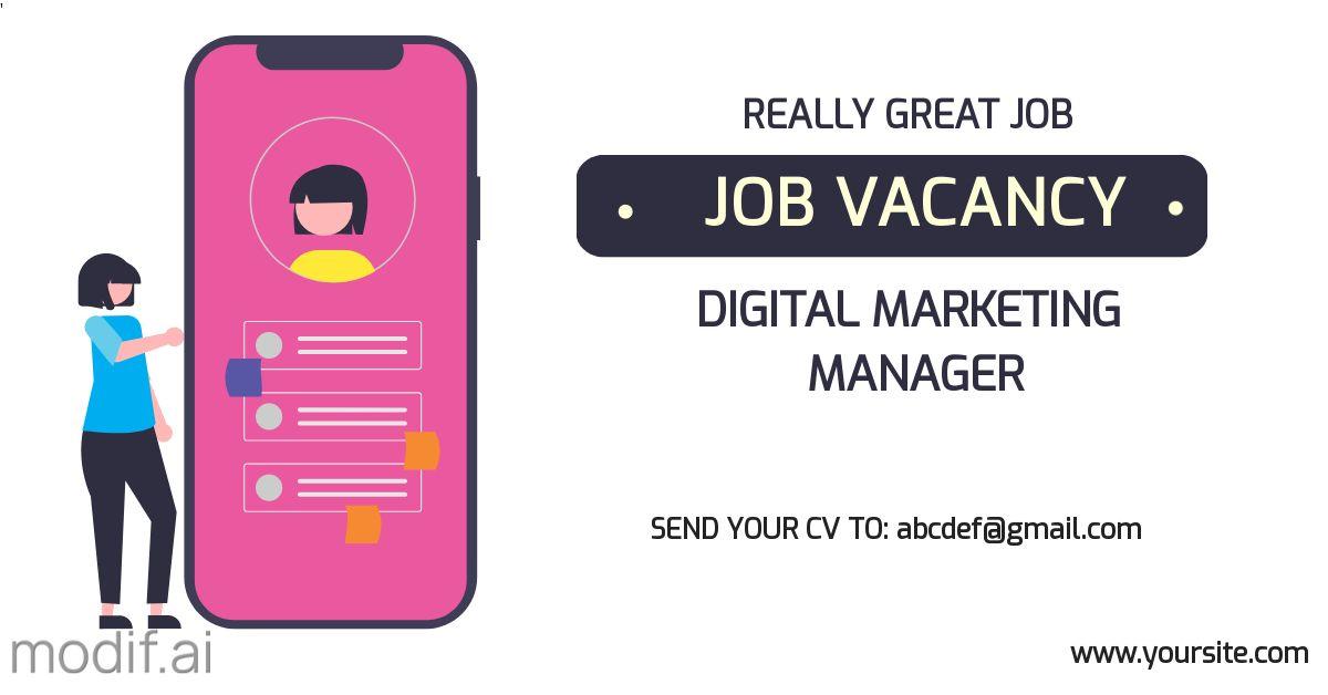 Job Vacancy Blog Post LinkedIn Template