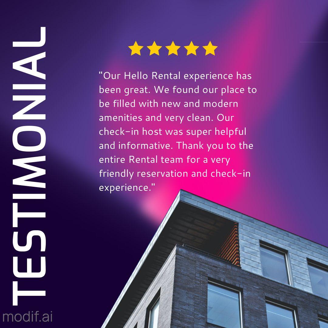 Rental House Testimonial Template