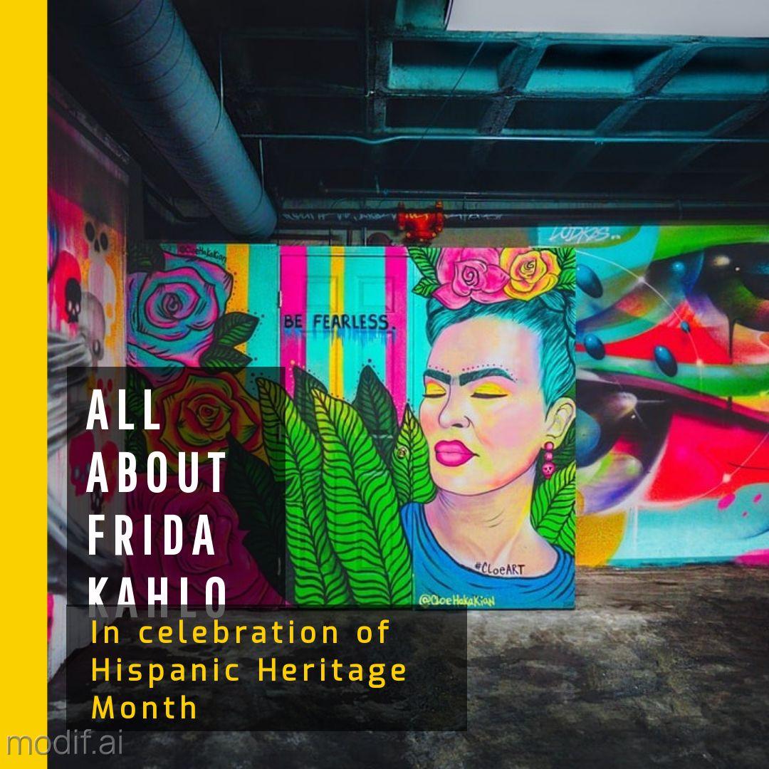 Hispanic Heritage Month Frida Kahlo Instagram Post Template