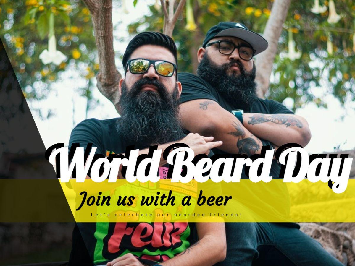 World Beard Day Facebook Post Design
