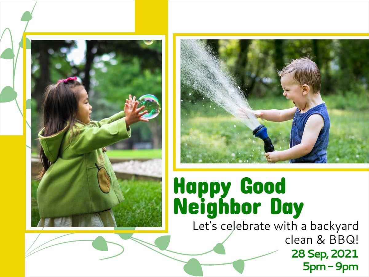 Good Neighbor Day Facebook Post Template