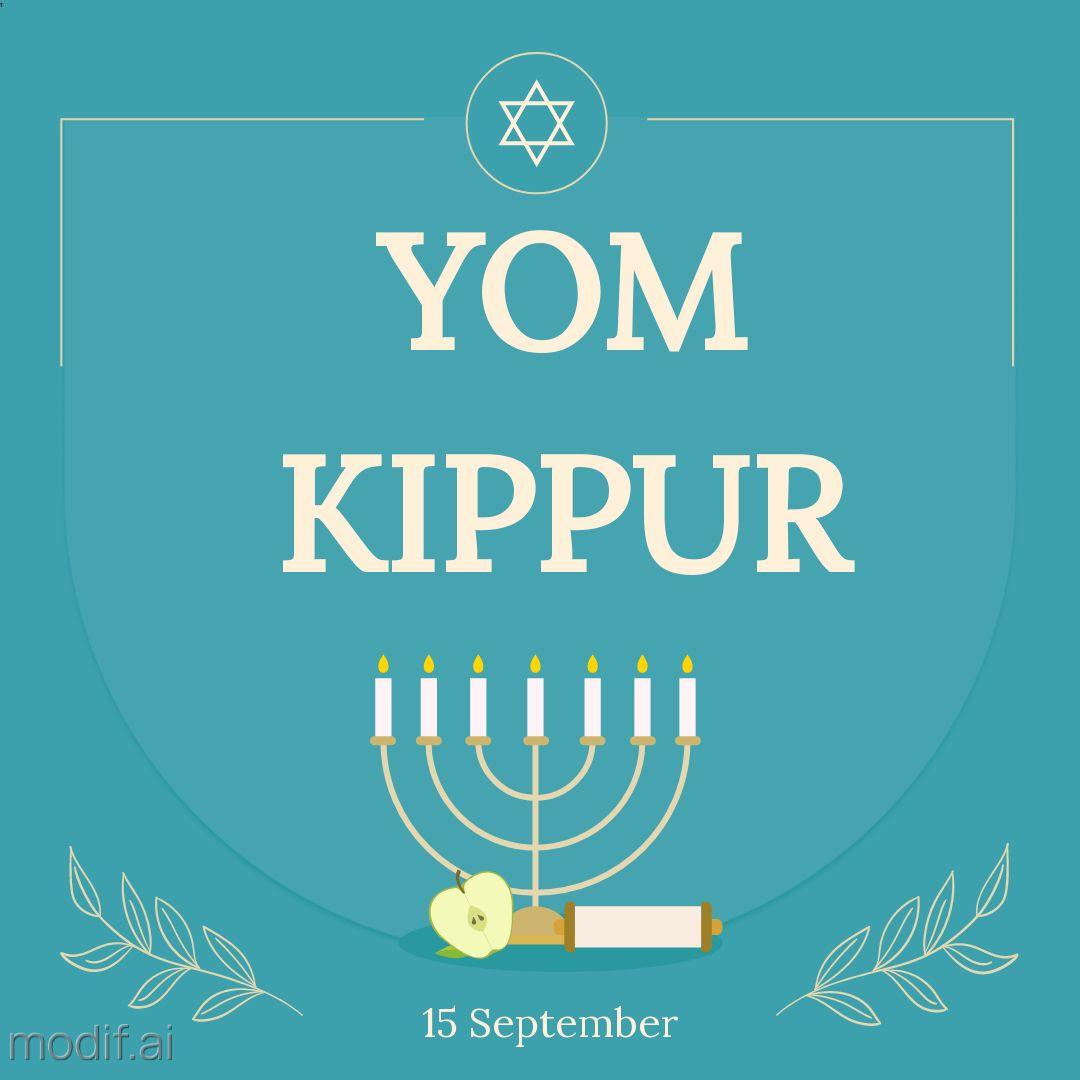 Yom Kippur Instagram Post Design Template