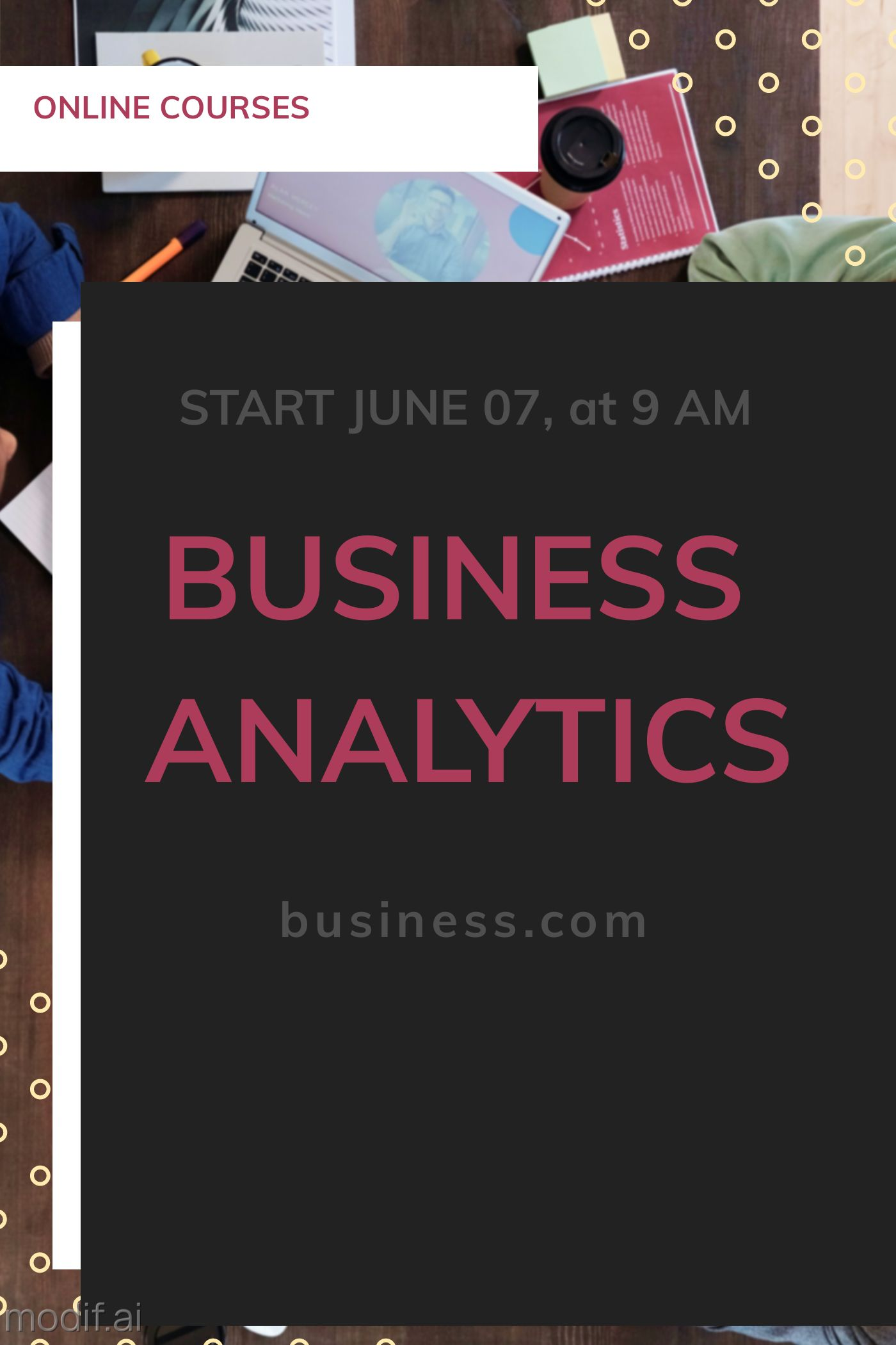 Business Intelligence Course Cover Template