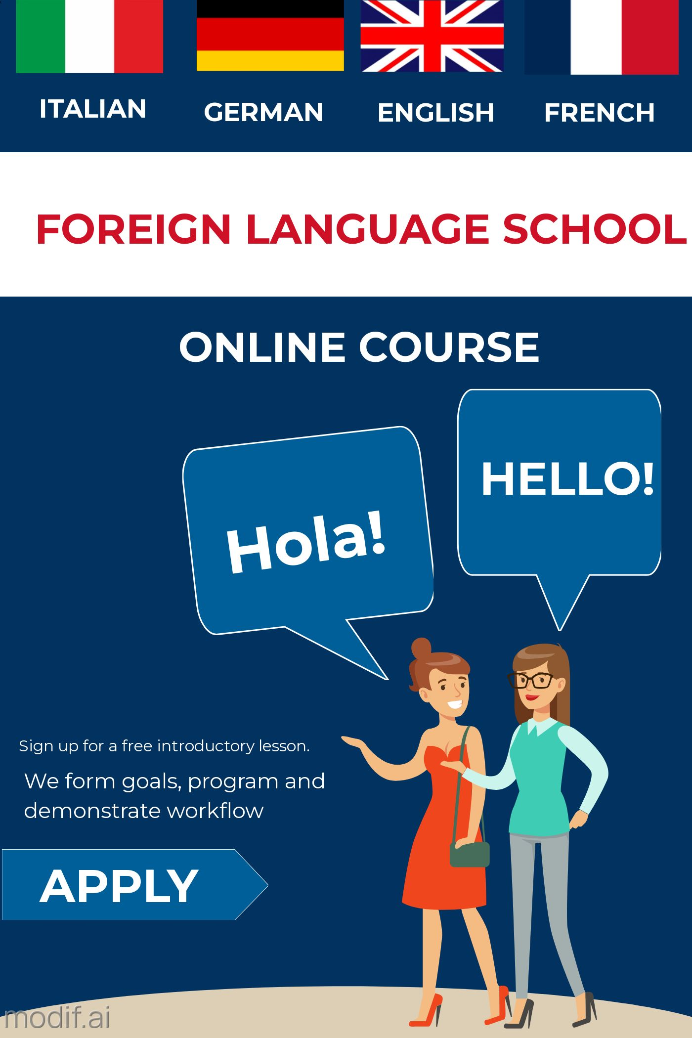 Foreign Language Online Course Template