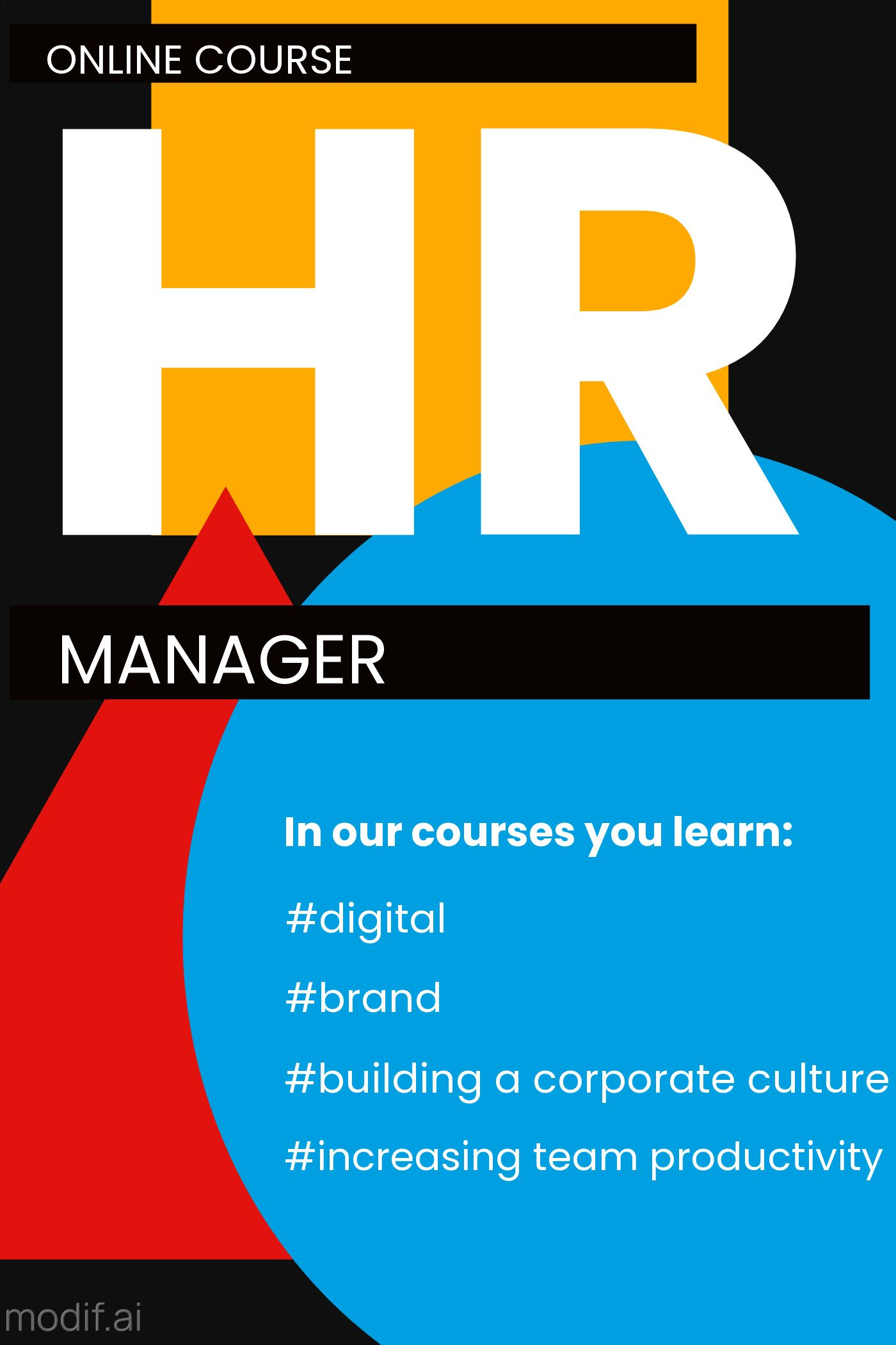 Online Course for HR Manager Template