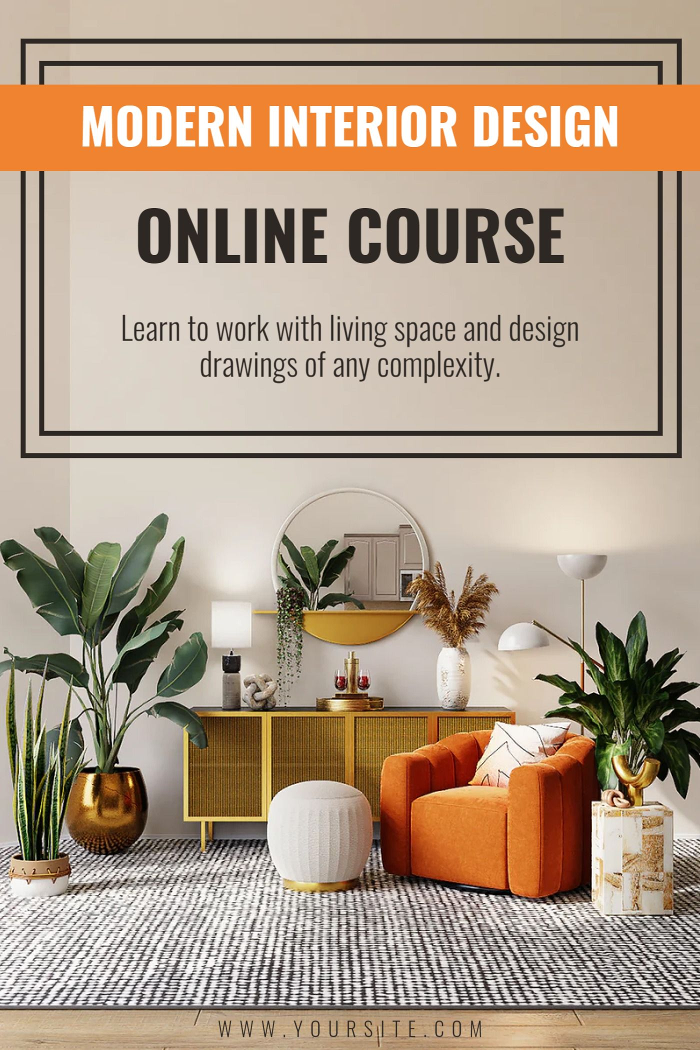 Online Interior Design Course Template
