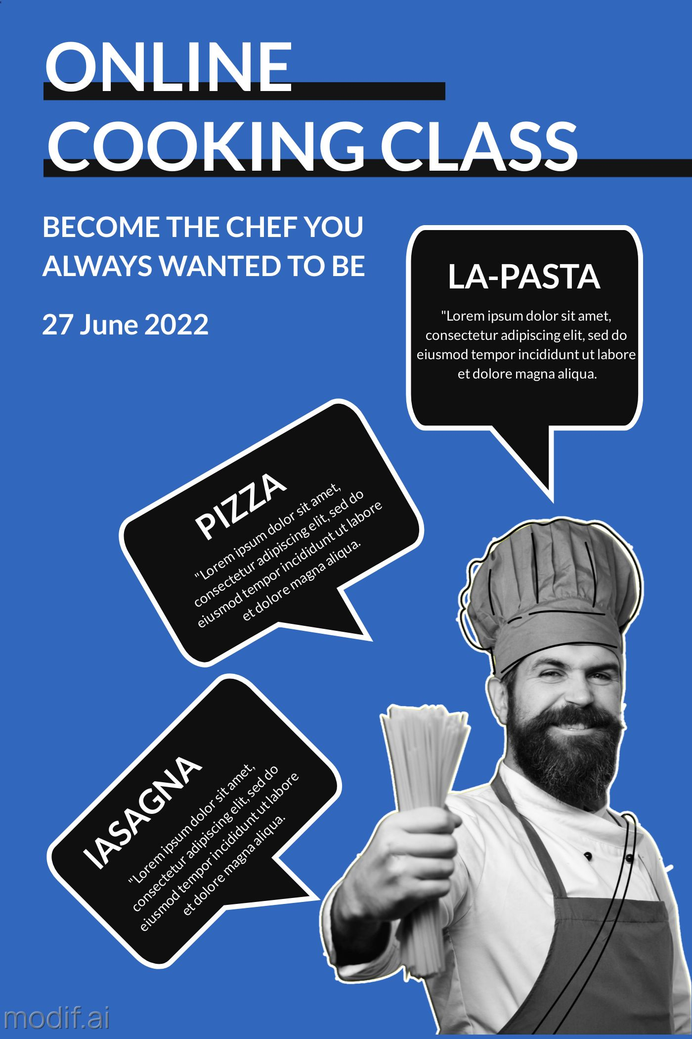 Online Cooking Class Template