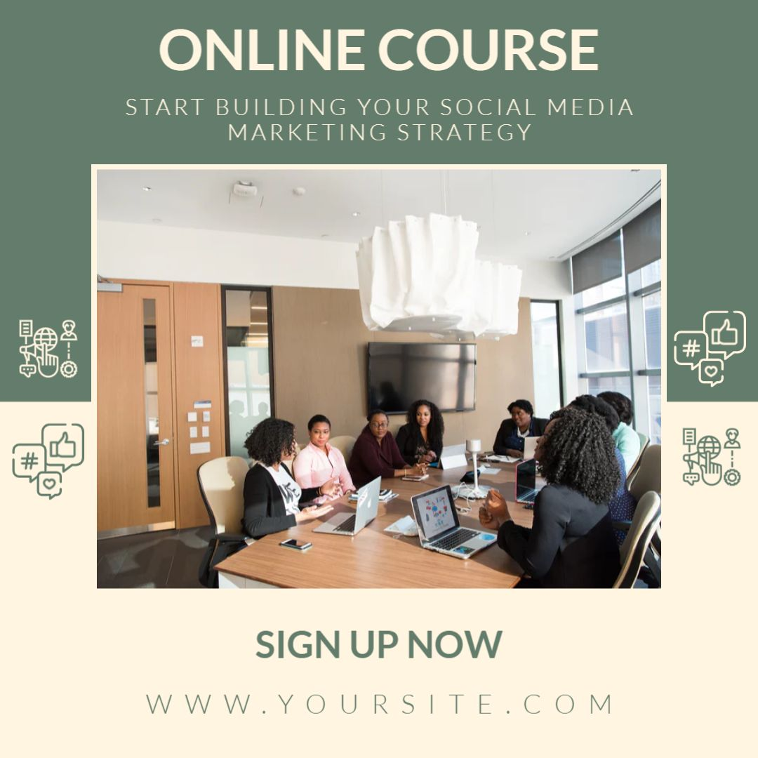 Social Media Marketing Online Course Template